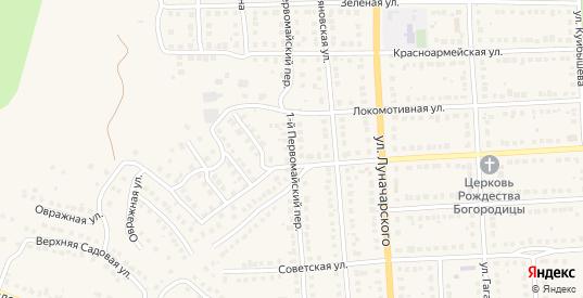 Первомайский 1-й переулок в Рузаевке с номерами домов на карте. Спутник и схема онлайн