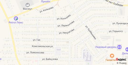 Улица Некрасова в Рузаевке с номерами домов на карте. Спутник и схема онлайн
