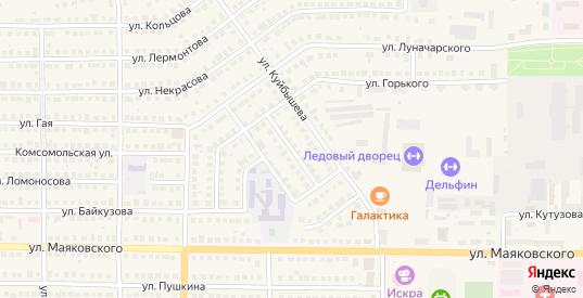 Переулок Байкузова в Рузаевке с номерами домов на карте. Спутник и схема онлайн