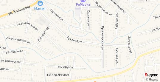 Луговая улица в Рузаевке с номерами домов на карте. Спутник и схема онлайн