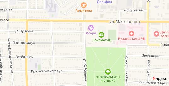 Пионерская улица в Рузаевке с номерами домов на карте. Спутник и схема онлайн