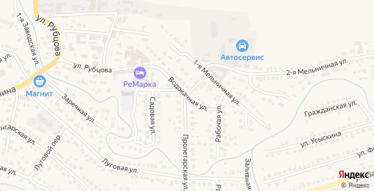 Водокачная улица в Рузаевке с номерами домов на карте. Спутник и схема онлайн