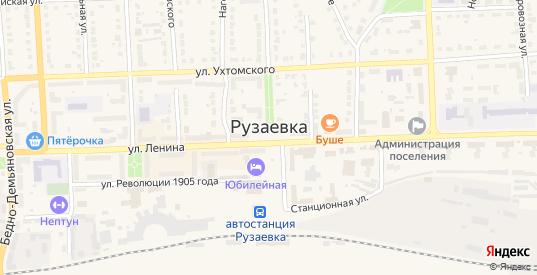 Улица Рыбаченок в Рузаевке с номерами домов на карте. Спутник и схема онлайн