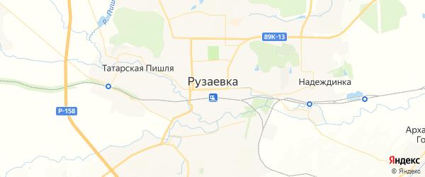 Карта Рузаевки с районами, улицами и номерами домов