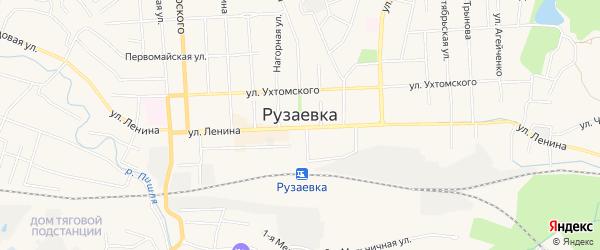 Территория ГСК Вагонное депо на карте Рузаевки с номерами домов