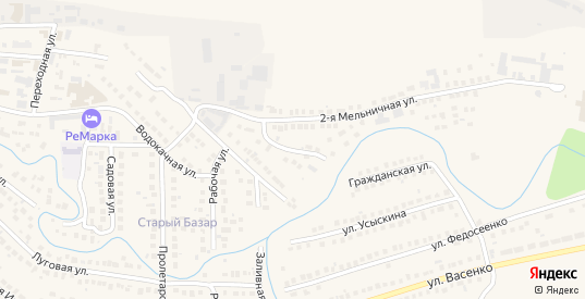 Мельничный переулок в Рузаевке с номерами домов на карте. Спутник и схема онлайн