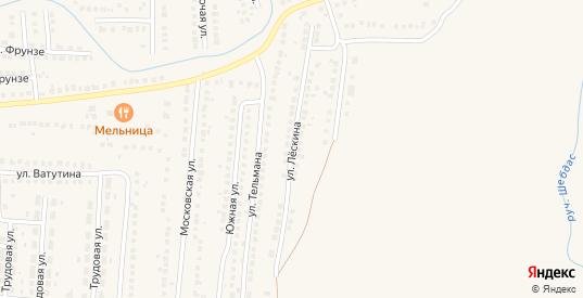 Улица Лескина в Рузаевке с номерами домов на карте. Спутник и схема онлайн