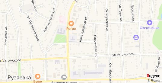 Ново-Базарный тупик в Рузаевке с номерами домов на карте. Спутник и схема онлайн