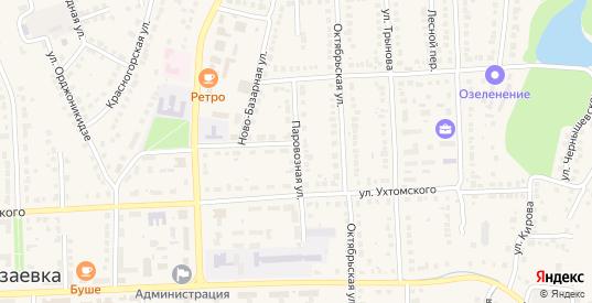 Паровозная улица в Рузаевке с номерами домов на карте. Спутник и схема онлайн