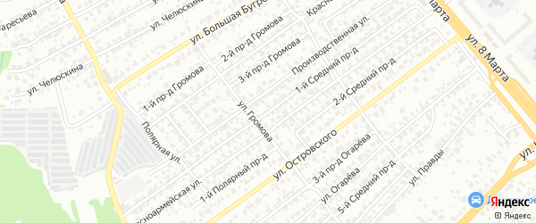 Победы 1-й проезд на карте Пензы с номерами домов