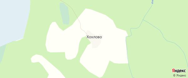 Карта починка Хохлово в Вологодской области с улицами и номерами домов