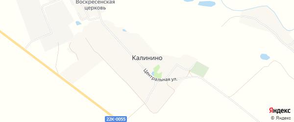 Карта села Калинино в Нижегородской области с улицами и номерами домов