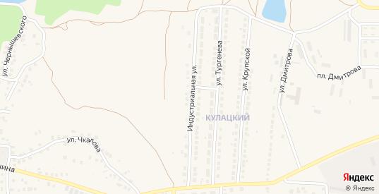 Индустриальная улица в Рузаевке с номерами домов на карте. Спутник и схема онлайн