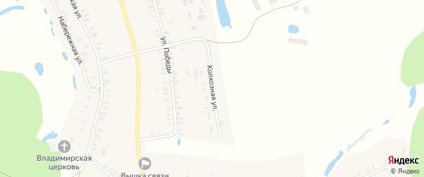 Колхозная улица на карте села Валки Нижегородской области с номерами домов