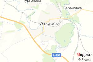 Карта г. Аткарск
