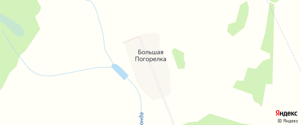 Карта деревни Большая Погорелка (Боковский с/с) города Семенова в Нижегородской области с улицами и номерами домов