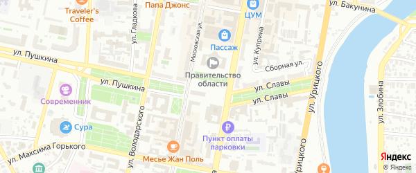 1-й микрорайон на карте Пензы с номерами домов
