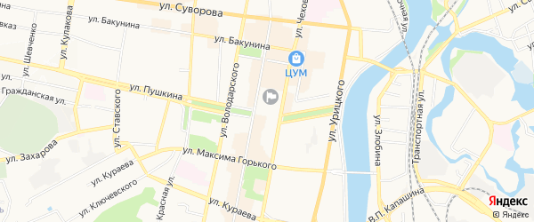 Садовое товарищество ст Огонек на карте Пензы с номерами домов