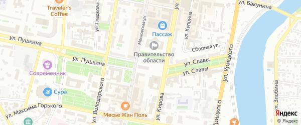 Территория сдт Весна-1 на карте Пензы с номерами домов
