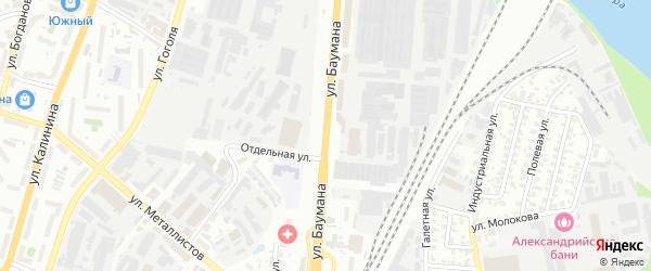 Улица Баумана на карте Пензы с номерами домов