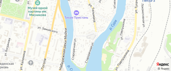 Улица Серафимовича на карте Пензы с номерами домов