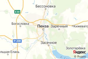 Карта г. Пенза Пензенская область