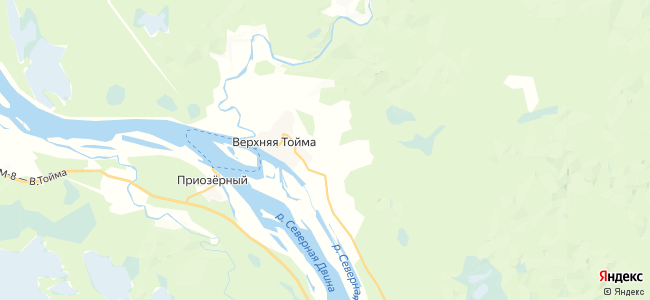 Паленьга на карте