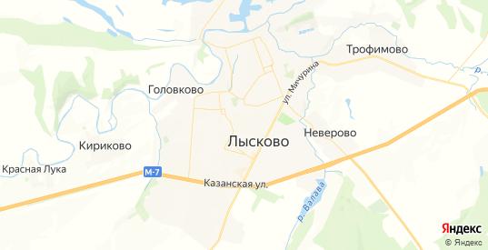 Карта Лысково с улицами и домами подробная. Показать со спутника номера домов онлайн