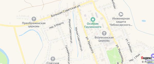 Малая Советская улица на карте Лысково с номерами домов