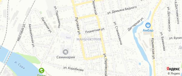 Санитарный 3-й проезд на карте Пензы с номерами домов