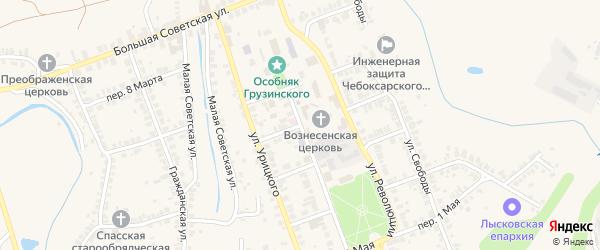 Переулок Шапошникова на карте Лысково с номерами домов