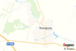 Карта пос. Кондоль Пензенская область