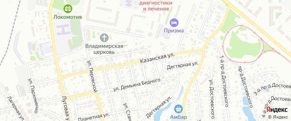 Казанская улица на карте Пензы с номерами домов