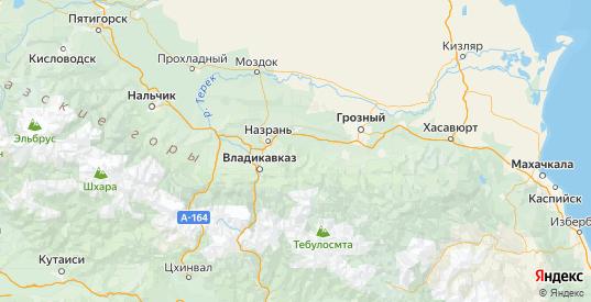 Карта Сунженского района республики Ингушетия с городами и населенными пунктами