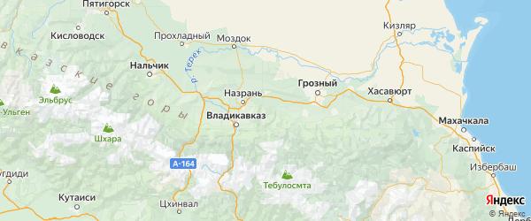 Карта Сунженского района Республики Ингушетии с городами и населенными пунктами