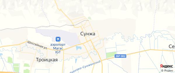 Карта Сунжи с районами, улицами и номерами домов