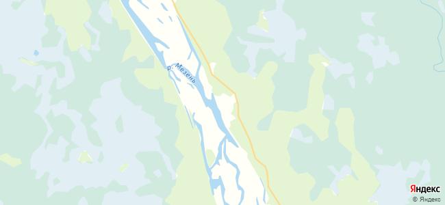 Погорелец на карте