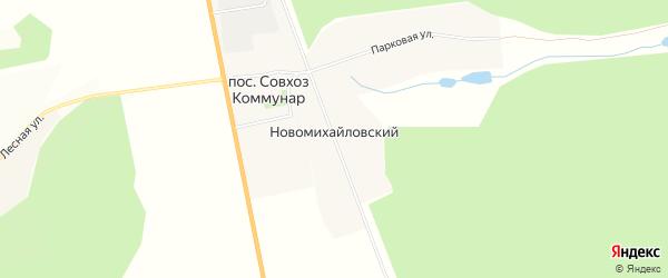Карта Новомихайловского поселка в Мордовии с улицами и номерами домов