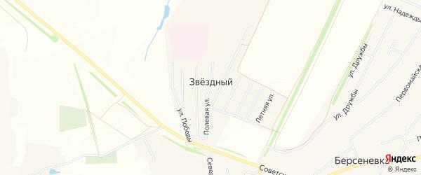 Карта Звездного поселка в Мордовии с улицами и номерами домов
