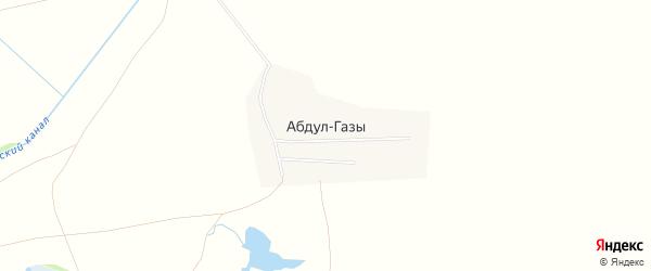 Карта аула Абдул-Газы в Ставропольском крае с улицами и номерами домов