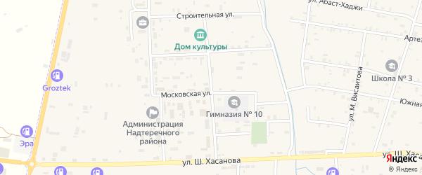 Улица Дзержинского на карте Знаменского села с номерами домов