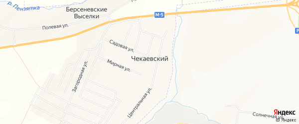Карта Чекаевского поселка в Мордовии с улицами и номерами домов
