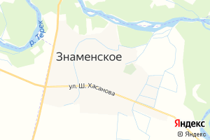 Карта с. Знаменское Чеченская Республика