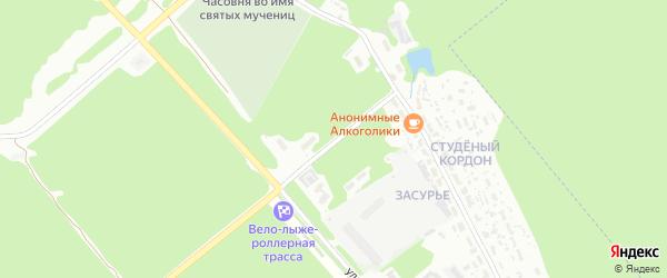 Улица Кордон Студеный на карте Пензы с номерами домов