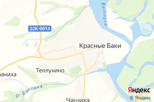 Карта пгт Красные Баки Нижегородская область