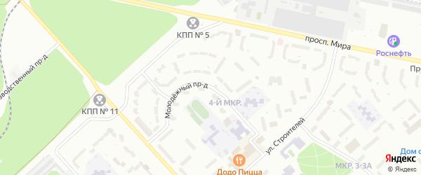 Молодежный проезд на карте Заречного с номерами домов