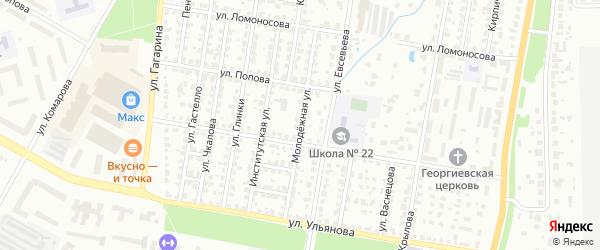 Молодежная улица на карте Саранска с номерами домов