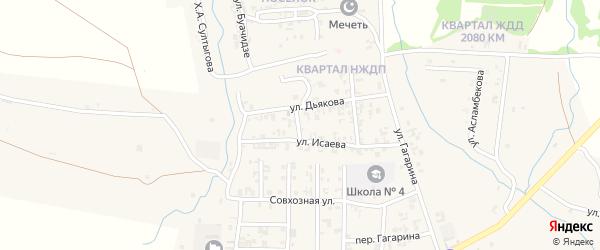 Улица Чехова на карте Серноводского села с номерами домов