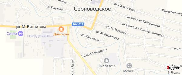 Улица Калинина на карте Серноводского села с номерами домов