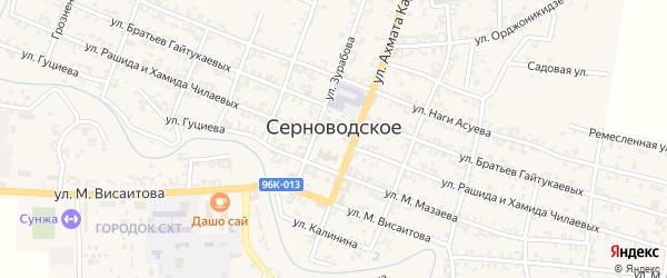 Шоссейная улица на карте Серноводского села Чечни с номерами домов